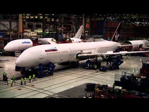 Watch Virgin Atlantic's first 787-9 put together quickly
