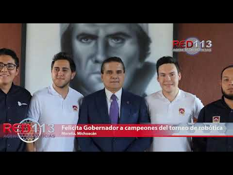 VIDEO Felicita Gobernador a michoacanos campeones del torneo de robótica en Polonia