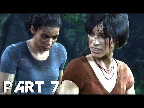 UNCHARTED THE LOST LEGACY Walkthrough Gameplay Part 7 - Elephant (PS4 Pro)