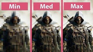 The Elder Scrolls Online – PC Min vs. Med vs. Max Graphics Settings Comparison [60fps]FullHD|1080p]