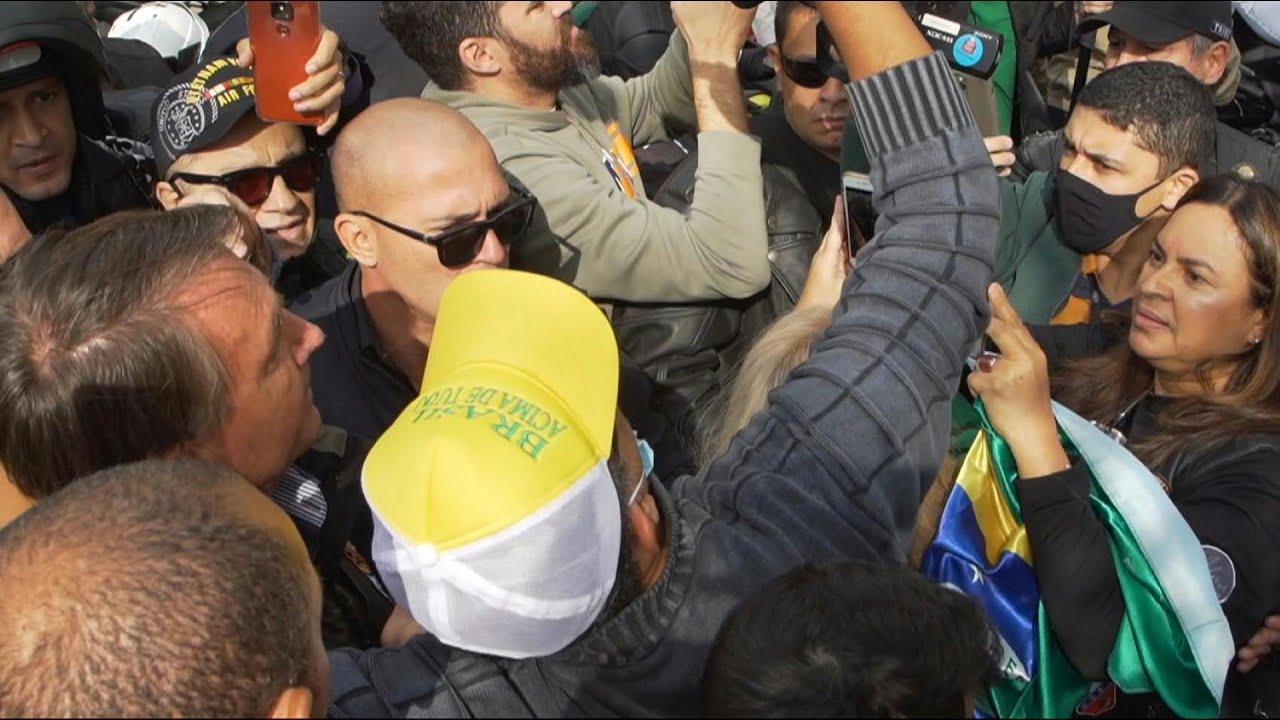 President Jair Bolsonaro takes part in motorcade rally with Sao Paulo supporters | AFP
