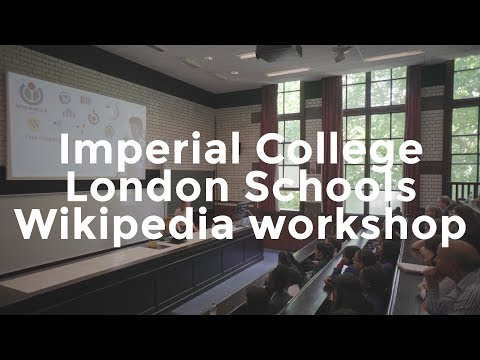 Imperial College schools Wikipedia workshop | Wikimedia UK