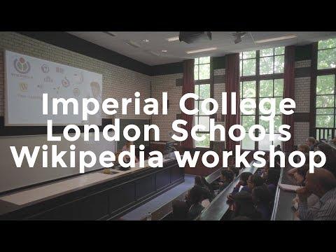Imperial College schools Wikipedia workshop | Wikimedia UK