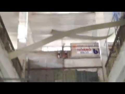 Hiện trường vụ rơi La phông chợ Cái Tàu Hạ,huyện Châu Thành tỉnh Đồng Tháp