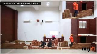 JZonni: Comparación entre muro convencional y muro de ladrillos de suelo cemento
