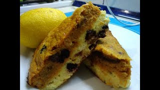 Очень быстрый пирог с тыквой, творогом и отрубями!!!!!!!