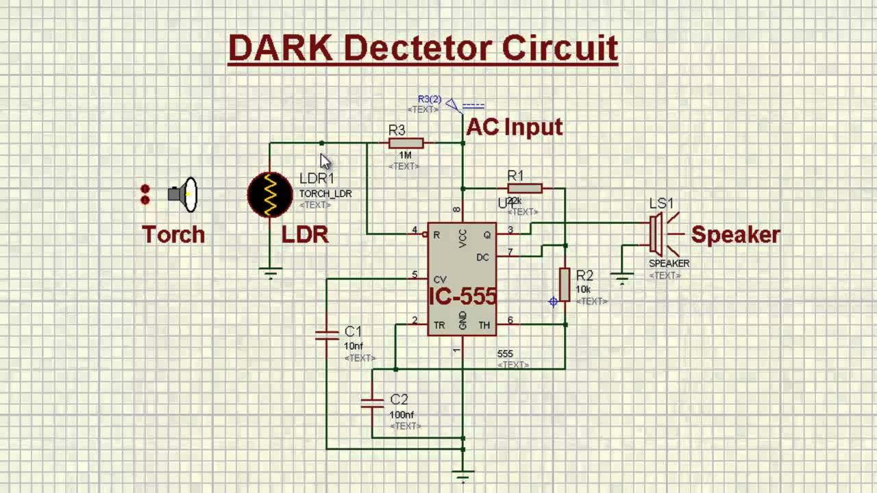 dark detector circuit - YouTube