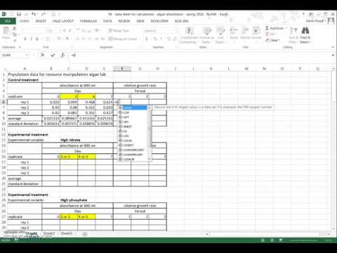 Algae calculations - part 1