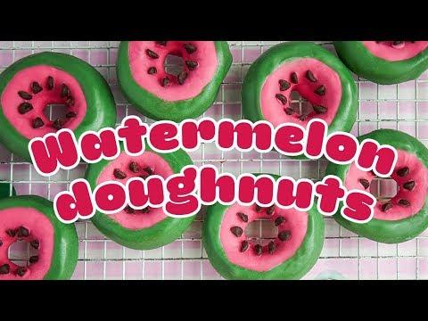 How To Make WATERMELON Doughnuts 🍩🍉 - BBC Good Food