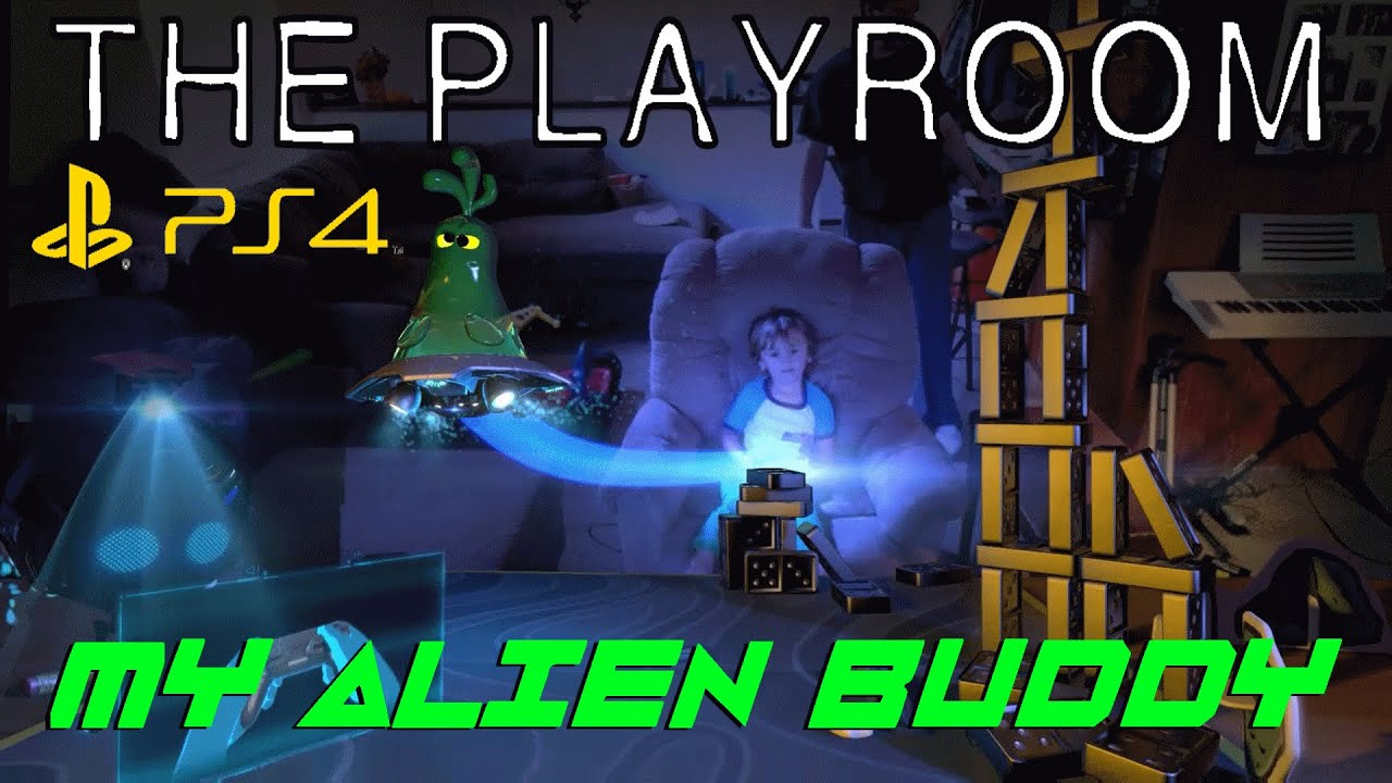 PS4 THE PLAYROOM - MY ALIEN BUDDY - PS4 INTERACTIVE CAMERA GAME ...