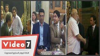 جمال زهران و حسام عيسى و عزة بلبع و الهلباوى و ممدوح حمزة بعزاء شاهندة مقلد