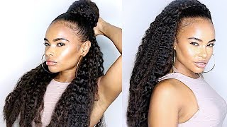 10 minutes! Braidless CROCHET BRAIDS Natural Hair Protective style