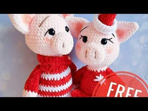 Amigurumi Mini Pig Free Crochet Pattern | 360x480