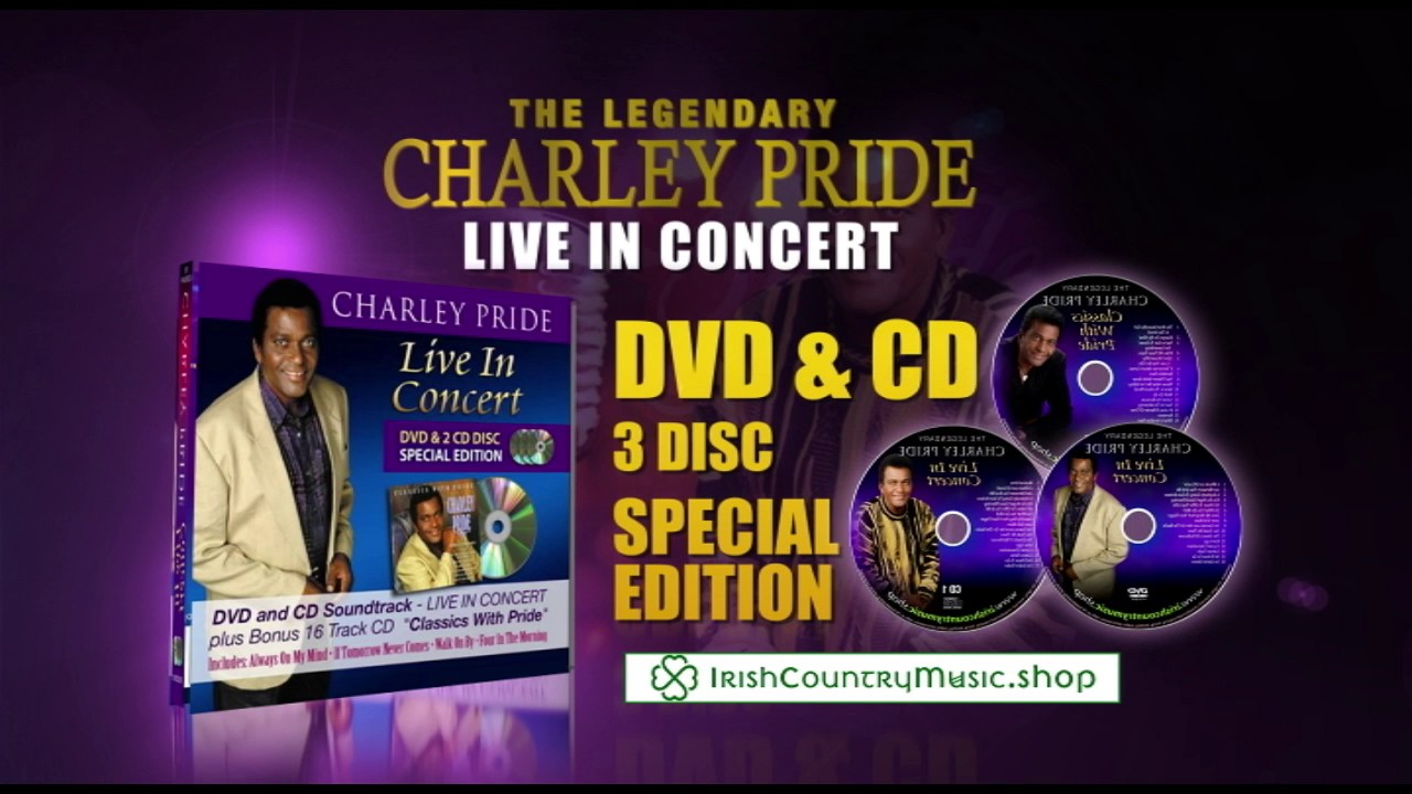 Charlie Pride Hits Top charley pride 'live in concert' dvd & 2 cd disc - youtube