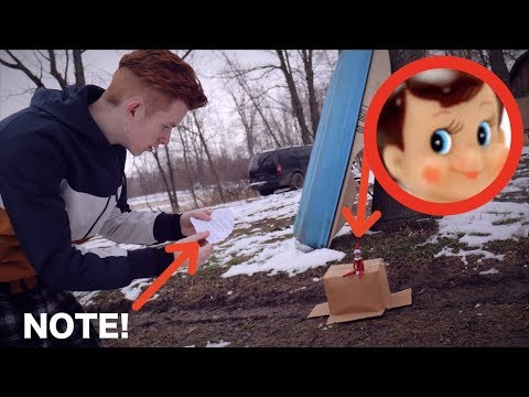 THE ELF ON THE SHELF LEFT A NOTE IN MY YARD! *We Saw Him!*
