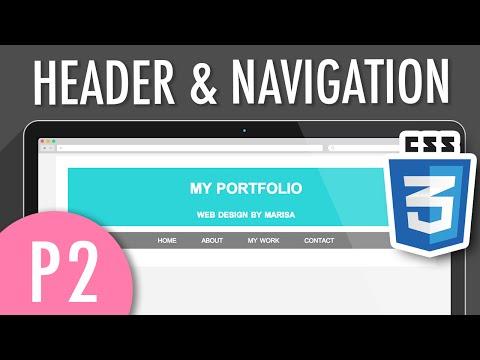CSS Header & Horizontal Navigation Menu  (PART 2) | XO PIXEL