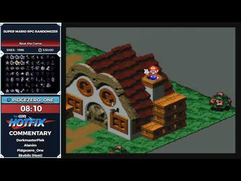 GDQ Hotfix Presents Super Mario RPG Randomizer Dev Showcase