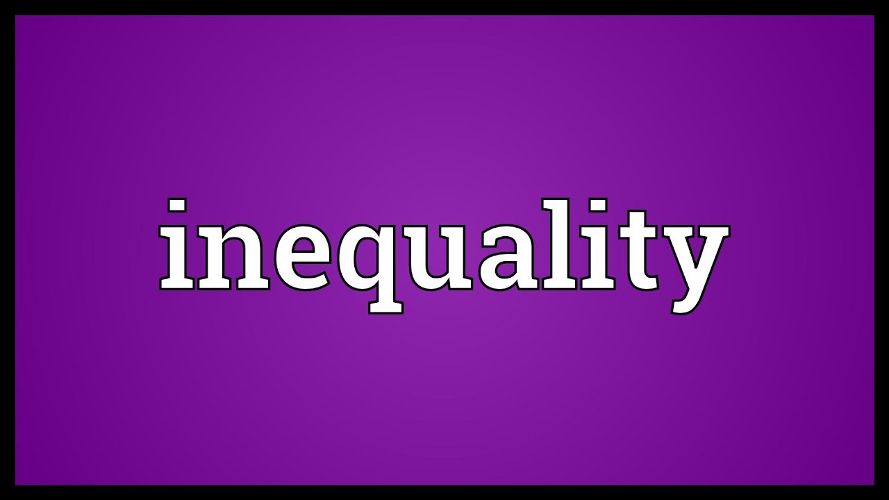 Inequality Meaning Youtube