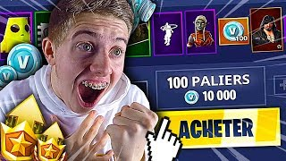 I BUY ALL THE NEW PASS OF COMBAT SAISON 8 LEVEL MAX ON FORTNITE BATTLE ROYALE !!!