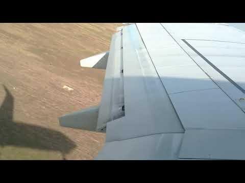 Взлет самолета Boeing737 800 рейс Махачкала -Санкт-Петербург .