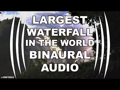 Victoria Falls BINAURAL AUDIO (Largest Waterfall in the world)- The Sound Traveler Africa