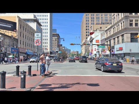 Driving Downtown - Newark's City Center - Newark New Jersey USA