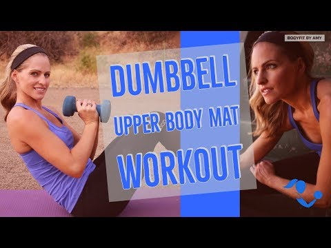 12 Minute Upper Body Mat Workout for Arms and Back