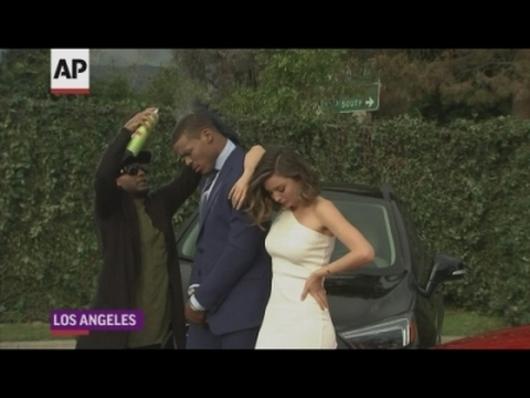 Miranda Kerr dabs with with Cam Newton