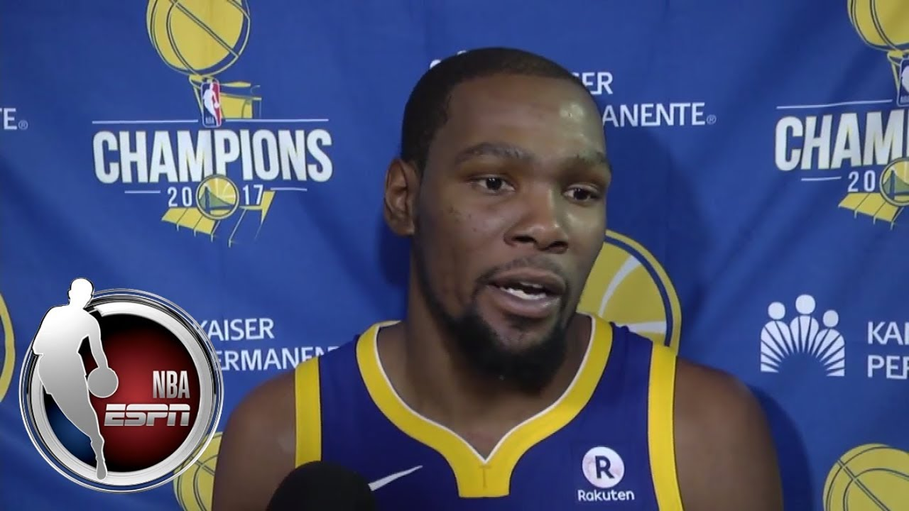 Kevin Durant talks Lakers, being a part of Kobe Bryant's jersey retirement | ESPN