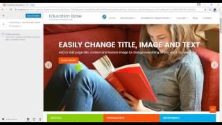 Education Base WordPress Theme, A Trip to Customizer