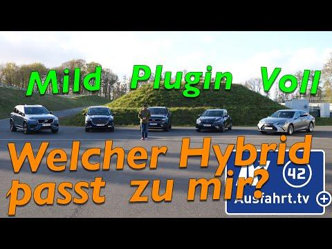 Welcher Hybrid passt zu mir? Wie unterscheiden sich Mildhybrid, Plugin-Hybrid und Vollhybrid?
