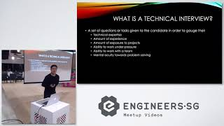 Elements of a technical interview - Junior Developers Singapore