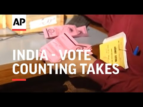 India - Vote counting takes place