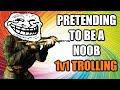 BO2: Pretending to be a  Noob (1v1 TROLLING)