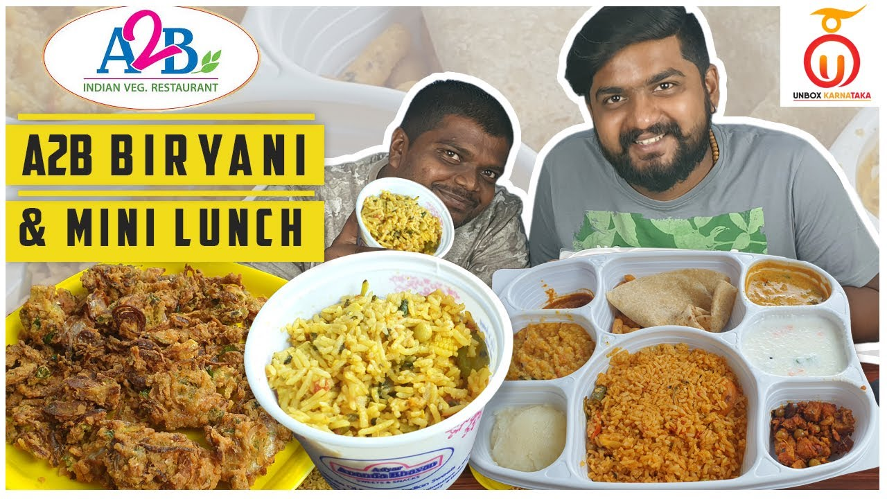 A2B Veg Biryani & Mini Lunch Review | Pure Veg Restaurant | Unbox Karnataka | Kannada Food Review