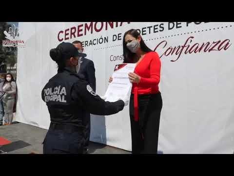 La Policía Municipal de Naucalpan cuenta con 81 nuevos elementos en sus filas.