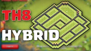 Clash of Clans - 2016 TH8 HYBRID BASE DESIGN!