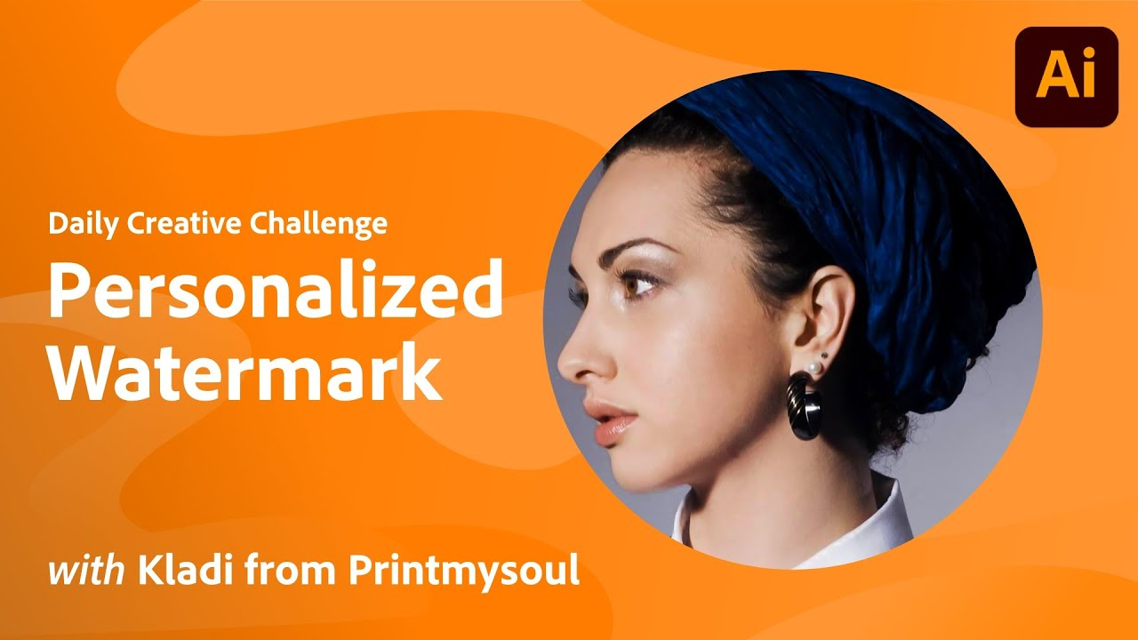 Illustrator Daily Creative Challenge - Personalized Watermark