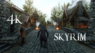 SKYRIM HEAVILY MODDED GAMEPLAY SHOWCASE 4K 60FPS