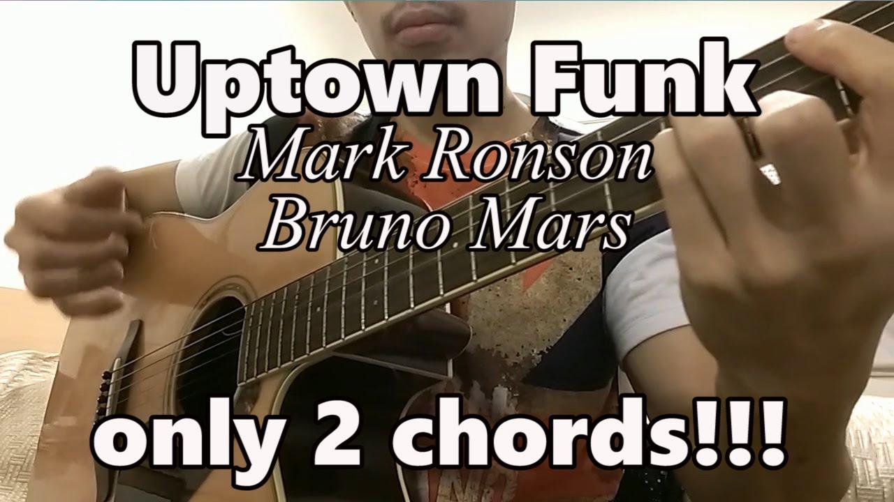 Uptown Funk u266b Mark Ronson Ft. Bruno Mars u266b Guitar Tutorial EASY CHORDS - YouTube