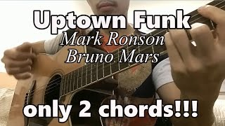Uptown Funk ♫ Mark Ronson Ft. Bruno Mars ♫ Guitar Tutorial EASY CHORDS