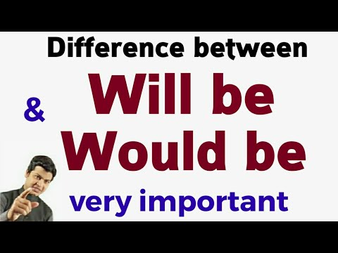 Difference between will be & would be | English by spoken english sir videos part 16.
