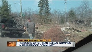 Residents catch man illegal dumping in Brightmoor community