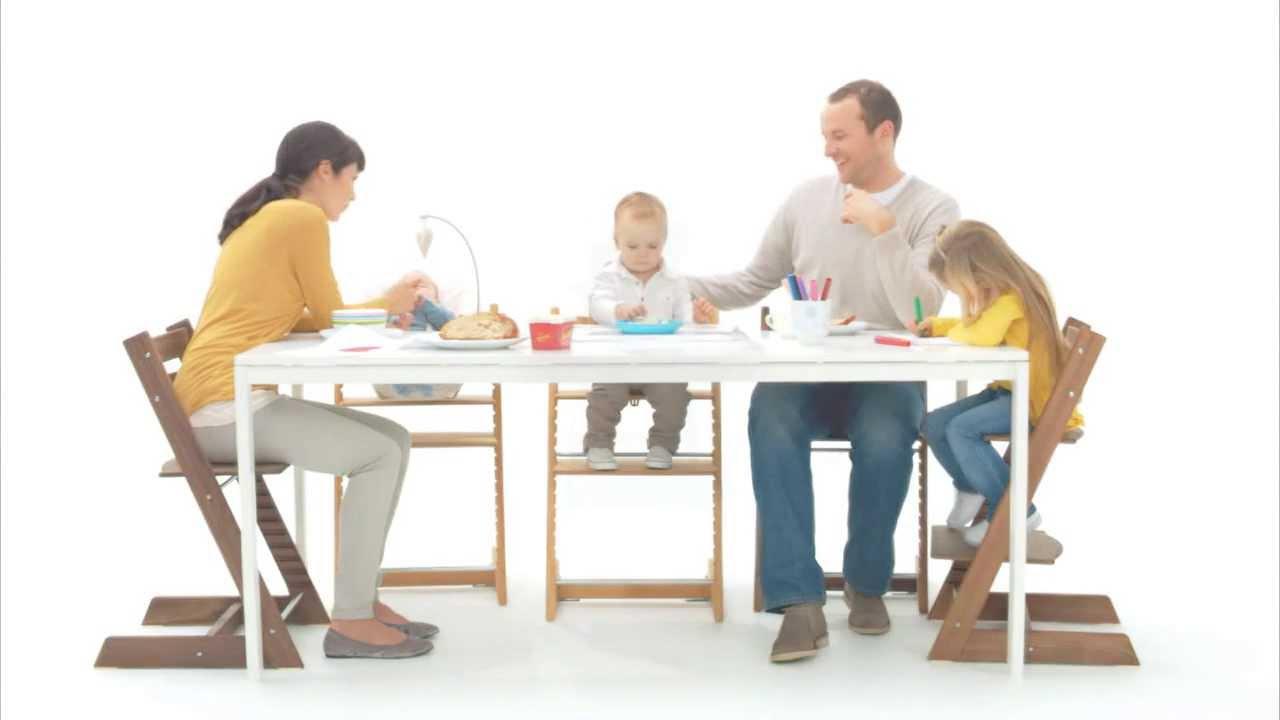 cadeira tripp trapp stokke youtube. Black Bedroom Furniture Sets. Home Design Ideas