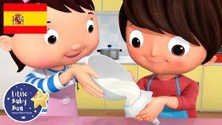 Canciones Infantiles | Tortas, Tortitas | Parte 2 | Dibujos Animados | Little Baby Bum en Español