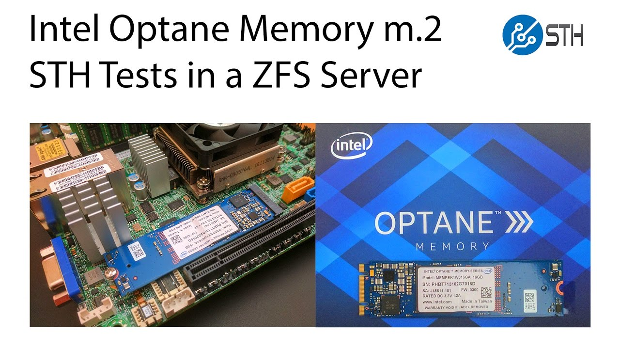 Intel Optane Memory in a Server as ZFS Cache (L2ARC) and Log (ZIL/ SLOG  device)
