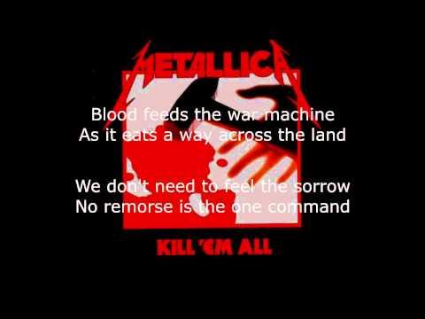 Metallica - No Remorse Lyrics (HD)
