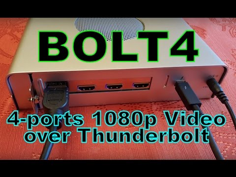 New 4-port HD Video Capture with Thunderbolt. It's the BOLT4!