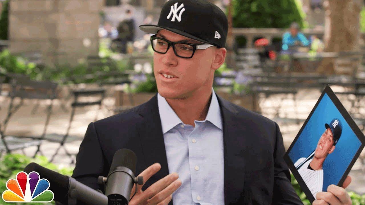 Aaron Judge Asks Yankees Fans About Aaron Judge - YouTube