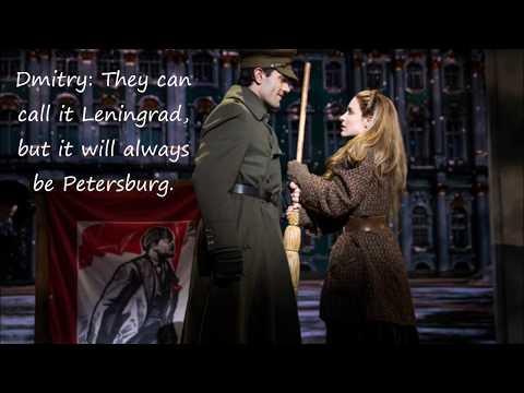 "Anastasia Original Broadway Cast Recording — ""A Rumor in St. Petersburg"" — Lyrics"